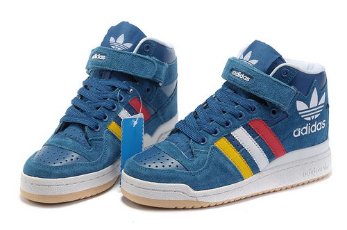Adidas Forum Mid Womens & Mens (unisex) Blue Red White Yellow On Sale