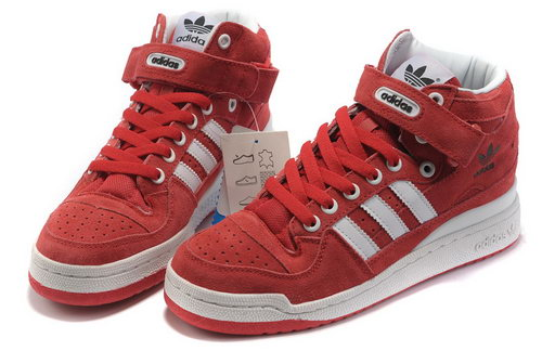 Adidas Forum Mid Womens & Mens (unisex) Red White Cheap