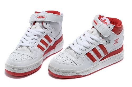 Adidas Forum Mid Womens & Mens (unisex) White Red Wholesale