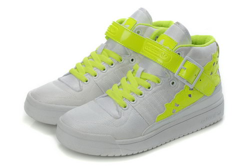 Adidas Forum Mid Womens Kawaii White Fluorescent Green Italy