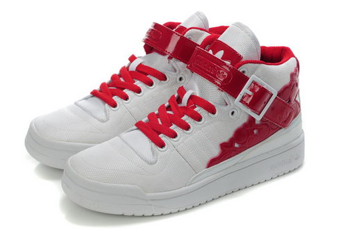 Adidas Forum Mid Womens Kawaii White Red Closeout