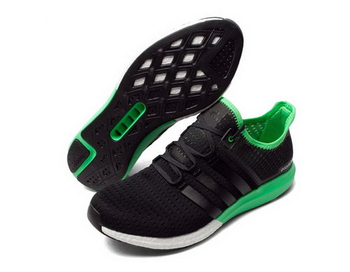 Mens Adidas Climachill Gazelle Boost Black & Green Coupon