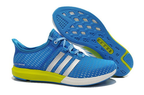 Mens Adidas Climachill Gazelle Boost Blue & Yellow Online