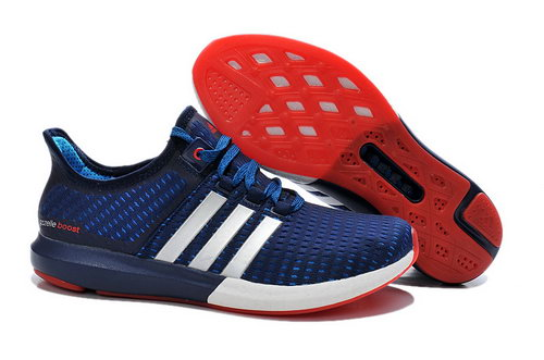 Mens Adidas Climachill Gazelle Boost Deep Blue & Red Reduced