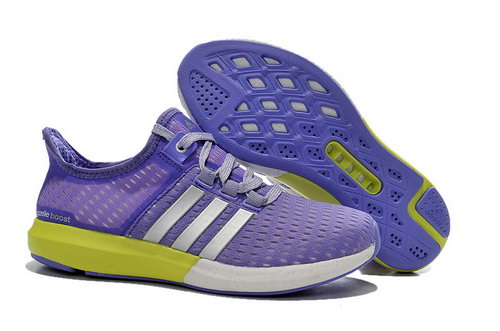 Womens Adidas Climachill Gazelle Boost Purple & Yellow Online Store
