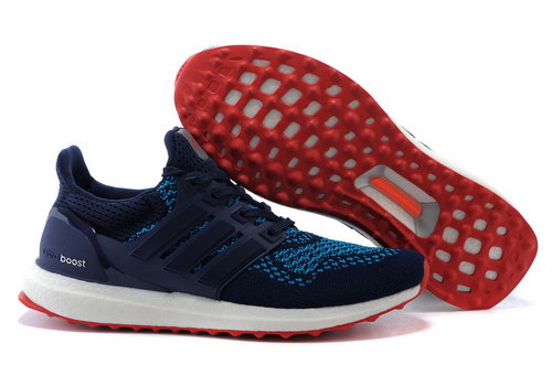 Mens Adidas Ultra Boost Black Blue & Red Outlet