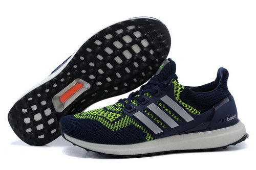 Mens Adidas Ultra Boost Dark Blue & Green Discount Code
