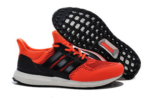 Mens Adidas Ultra Boost Reddish Orange & Black Promo Code