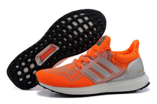 Mens Adidas Ultra Boost Reddish Orange & Silver Hong Kong