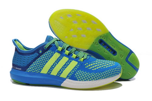 Mens Aidas Boost Clima Chill Light & Deep Blue - Fluorescent Yellow 2 Ireland