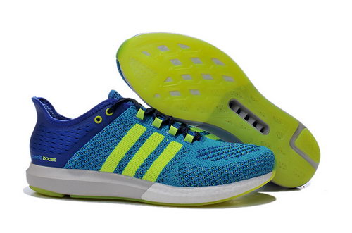 Mens Aidas Boost Clima Chill Light & Deep Blue - Fluorescent Yellow Taiwan