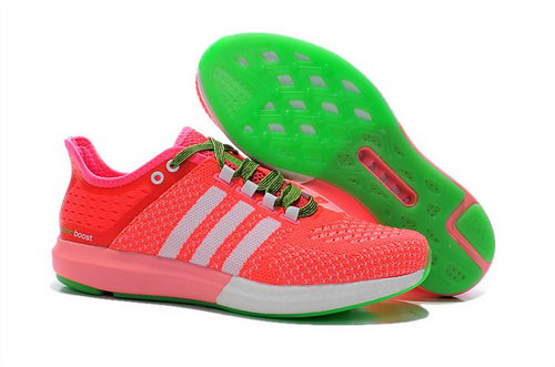 Womens Aidas Boost Clima Chill Peach White Green Factory