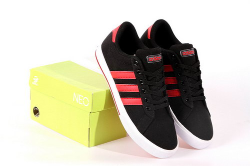 Adidas Neo Canvas Mens & Womens (unisex) Black Red