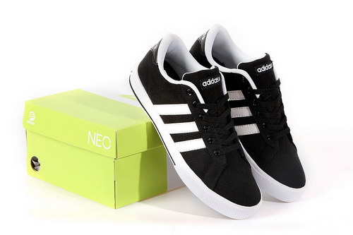 Adidas Neo Canvas Mens & Womens (unisex) Black White Online Store
