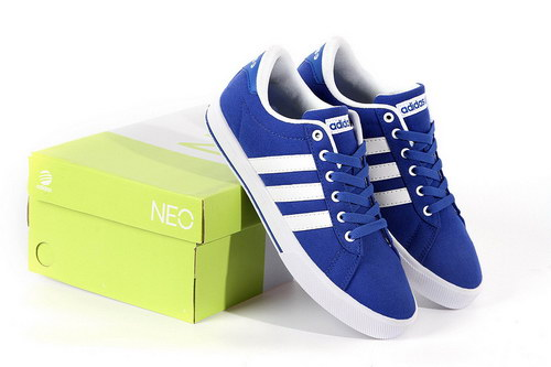 Adidas Neo Canvas Mens & Womens (unisex) Blue White Factory