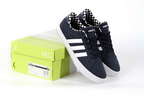 Adidas Neo Canvas Mens & Womens (unisex) Dark Blue White Poland