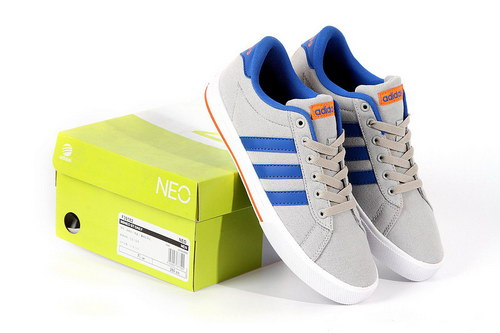 Adidas Neo Canvas Mens & Womens (unisex) Grey Blue Factory Outlet