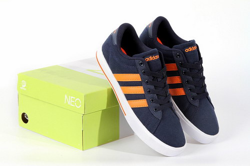 Adidas Neo Canvas Mens & Womens (unisex) Navy Orange Review