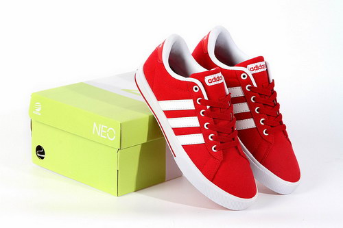 Adidas Neo Canvas Mens & Womens (unisex) Red White For Sale
