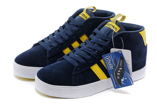 Adidas Neo High Mens & Womens (unisex) Dark Blue Yellow Clearance