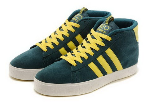 Adidas Neo High Mens & Womens (unisex) Navy Yellow Canada
