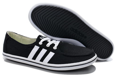 Mens Adidas Neo Lazy Black White Low Price