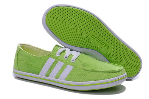 Womens Adidas Neo Lazy Green White Cheap