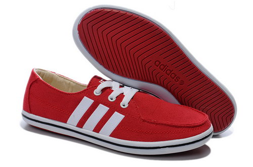 Womens Adidas Neo Lazy Red White Wholesale