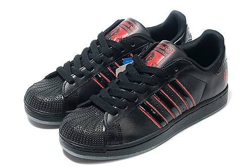Adidas Superstar Mens & Womens (unisex) Black Red Shark Factory Store
