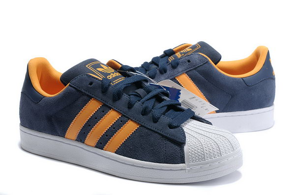 Adidas Superstar Mens & Womens (unisex) Blue Orange Discount