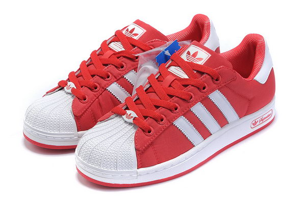 adidas superstar womens white and red
