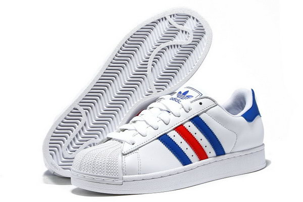 Adidas Superstar Mens & Womens (unisex) White Blue Red For Sale