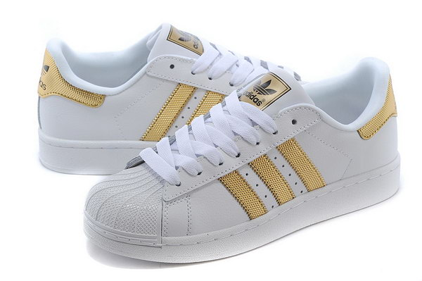 Adidas Superstar Mens & Womens (unisex) White Gold Outlet Online