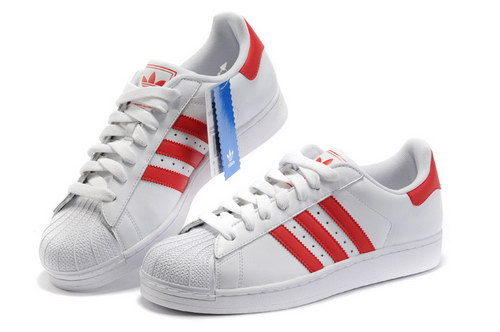 Adidas Superstar Mens & Womens (unisex) White Red Clearance