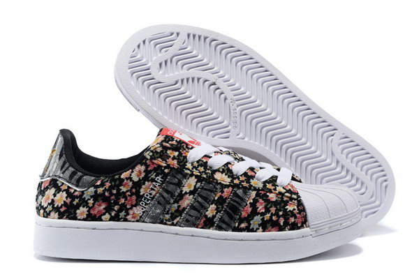 Womens Adidas Superstar Black Floret Sale