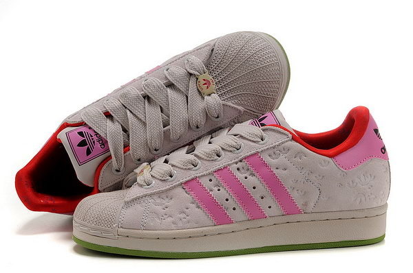 Womens Adidas Superstar Floret Beige Pink Low Cost