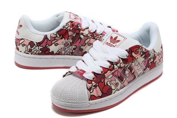 Womens Adidas Superstar Red Camo Low Price