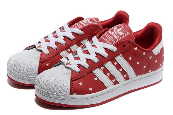 Womens Adidas Superstar Red Heart Point Uk