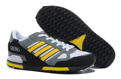 Adidas Zx 750 Mens Size Us7 7.5 9 10.5 Grey Black Yellow Outlet Store
