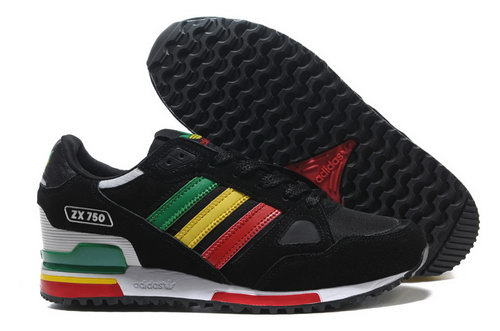 Adidas Zx 750 Womens & Mens (unisex) Black White Red Yellow Green Usa