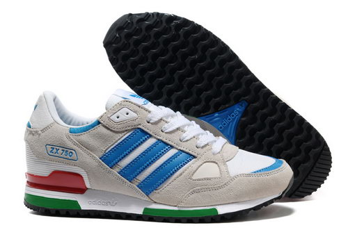 Adidas Zx 750 Womens & Mens (unisex) Grey Blue Low Price