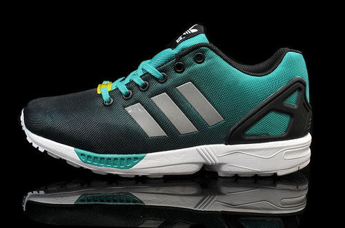 Adidas Zx Flux Mens & Womens (unisex) Reflective Black Green Denmark
