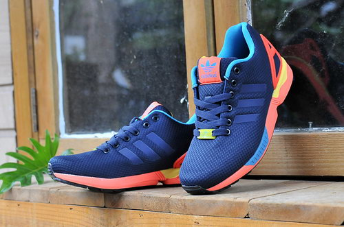 Adidas Zx Flux Mens & Womens (unisex) Blue Orange Yellow Uk