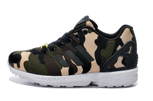 Adidas Zx Flux Mens & Womens (unisex) Green Camo Cheap
