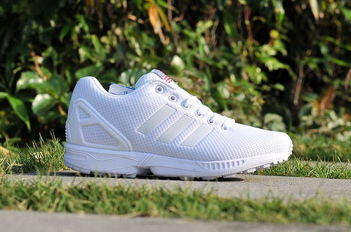 Adidas Zx Flux Mens & Womens (unisex) Red October All White Coupon