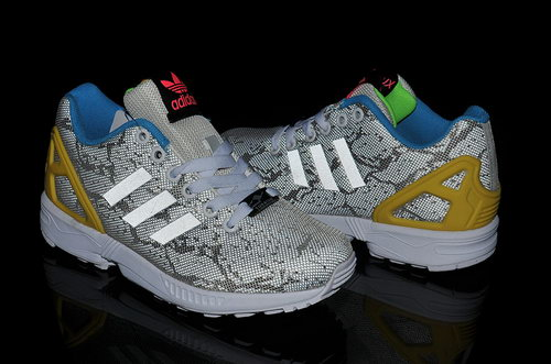 Adidas Zx Flux Mens & Womens (unisex) Snake Print White Reduced