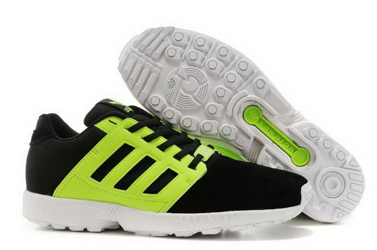 Mens Adidas Zx Flux 2.0 Black Green Portugal