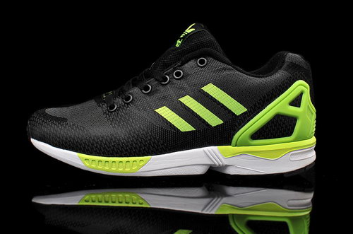 Mens Adidas Zx Flux Weave Black Green Sale