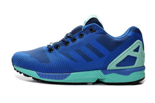 Mens Adidas Zx Flux Weave Blue Moon Low Cost
