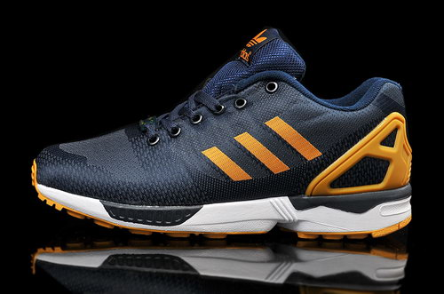 Mens Adidas Zx Flux Weave Blue Orange Switzerland